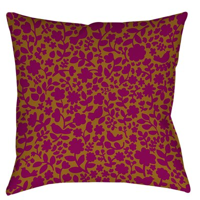 Ambrose Bird Printed Throw Pillow Size: 18 H x 18 W x 5 D, Color: Fuchsia
