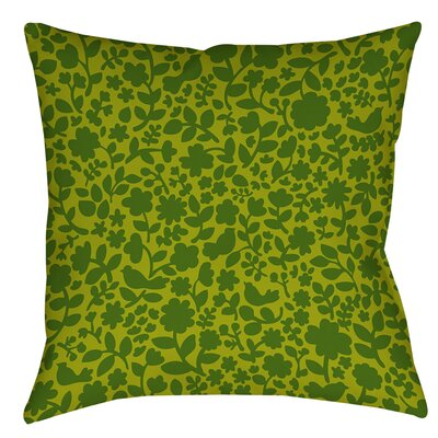 Ambrose Bird Printed Throw Pillow Size: 14 H x 14 W x 3 D, Color: Green