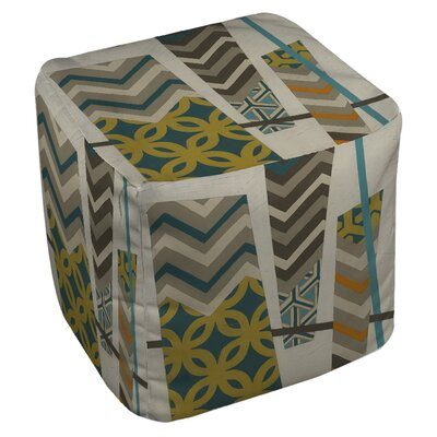 Abstract Scrapbook Pouf