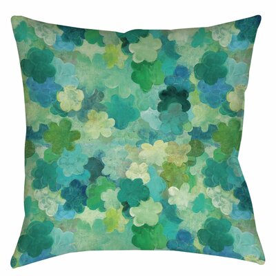 Aqua Bloom Water Blends Indoor / Outdoor Throw Pillow Size: 16 H x 16 W x 4 D