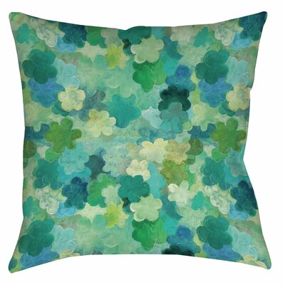 Aqua Bloom Water Blends Printed Throw Pillow Size: 14 H x 14 W x 3 D