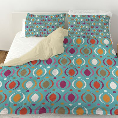 Banias Oval Duvet Cover Size: Queen, Color: Teal