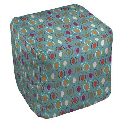Banias Oval Pouf Upholstery: Teal