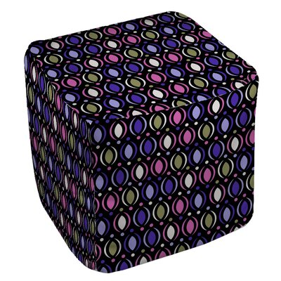 Banias Oval Pouf Upholstery: Purple