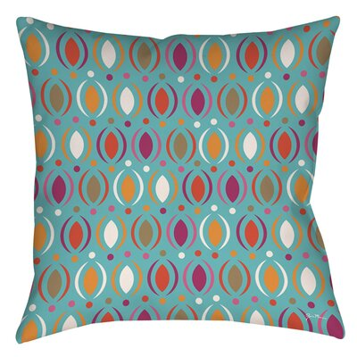 Banias Oval Indoor/Outdoor Throw Pillow Size: 16 H x 16 W x 4 D, Color: Teal
