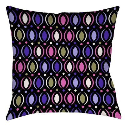 Banias Oval Indoor/Outdoor Throw Pillow Size: 20 H x 20 W x 5 D, Color: Purple