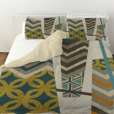 Abstract Scrapbook 1 Duvet Cover Size: King