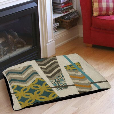 Abstract Scrapbook 1 Pet Bed Size: 28 L x 18 W