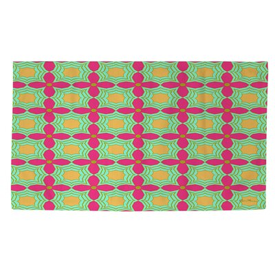 Anima 2 Star Pink/Green Area Rug Rug Size: 2 x 3