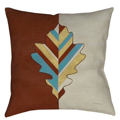 Apache Leaf 4 Printed Throw Pillow Size: 16 H x 16 W x 4 D