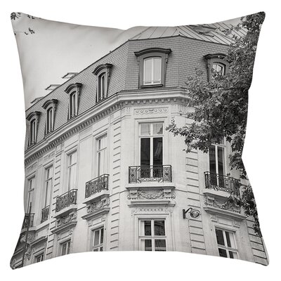 A Travers Paris II Printed Throw Pillow Size: 26 H x 26 W x 7 D