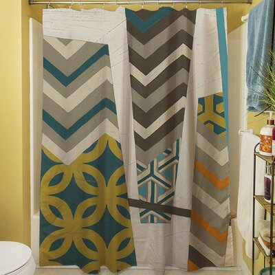Abstract Scrapbook I Shower Curtain