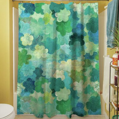 Aqua Bloom Water Blends Shower Curtain