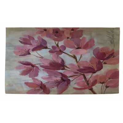 April Blooms 1 Pink Area Rug Rug Size: 2 x 3