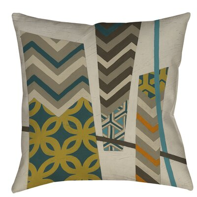 Abstract Scrapbook 1 Printed Throw Pillow Size: 26 H x 26 W x 7 D