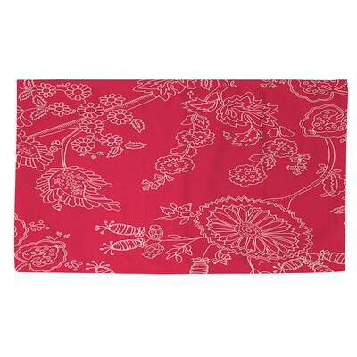 Anima Outline Red/White Area Rug Rug Size: 2 x 3