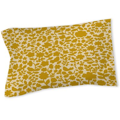 Ambrose Bird Sham Size: Queen/King, Color: Yellow