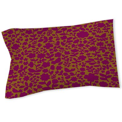 Ambrose Bird Sham Size: Queen/King, Color: Fuchsia