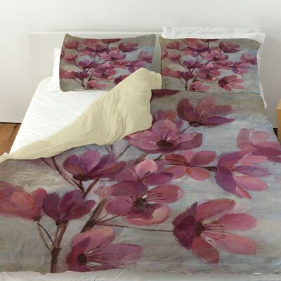 April Blooms 2 Duvet Cover Size: Queen