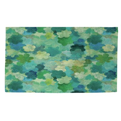 Aqua Bloom Water Blends Green Area Rug Rug Size: 4 x 6