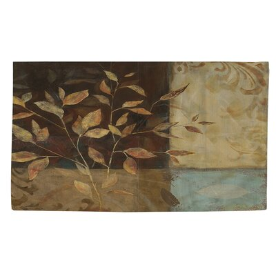 Autumn Texture 1 Brown Area Rug Rug Size: 2 x 3