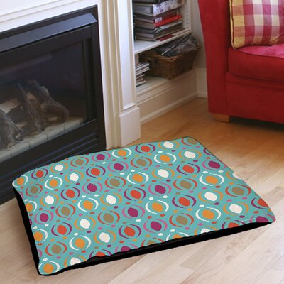 Banias Oval Pet Bed Size: 28 L x 18 W, Color: Teal