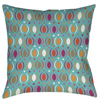 Banias Oval Printed Throw Pillow Size: 26 H x 26 W x 7 D, Color: Teal
