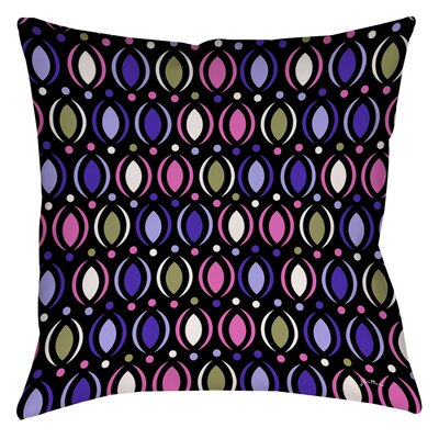 Banias Oval Printed Throw Pillow Size: 16 H x 16 W x 4 D, Color: Purple