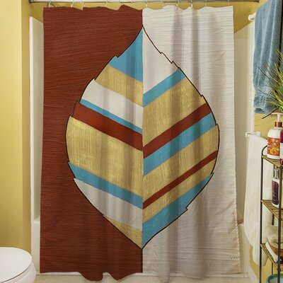 Apache Leaf I Shower Curtain