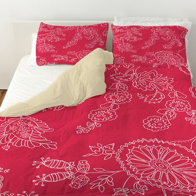 Anima Outline Duvet Cover Size: King