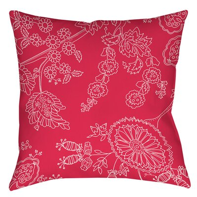 Anima Outline Indoor/Outdoor Throw Pillow Size: 18 H x 18 W x 5 D