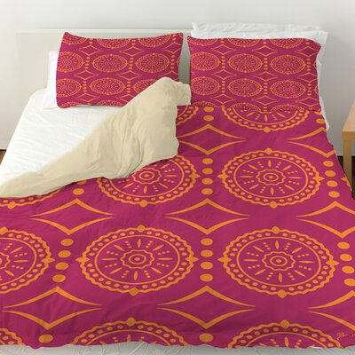 Banias Medallion Duvet Cover Size: King