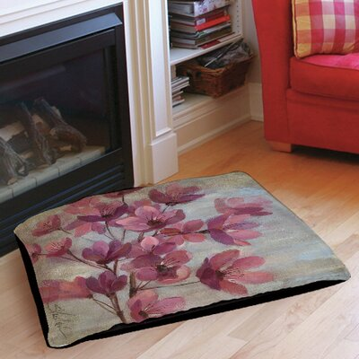 April Blooms 2 Pet Bed Size: 28 L x 18 W