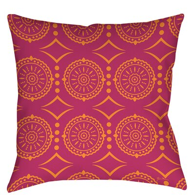 Banias Medallion Indoor/Outdoor Throw Pillow Size: 18 H x 18 W x 5 D