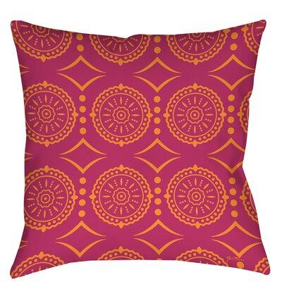 Banias Medallion Indoor/Outdoor Throw Pillow Size: 20 H x 20 W x 5 D