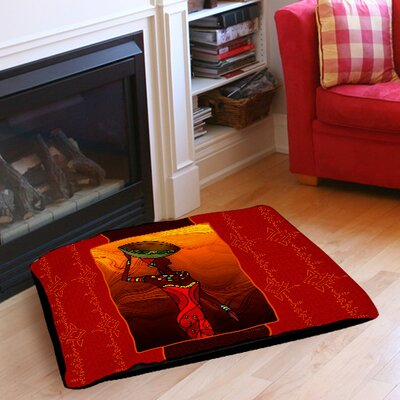 African Beauty 2 Pet Bed Size: 28 L x 18 W