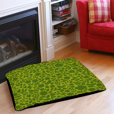 Ambrose Bird Pet Bed Size: 40 L x 30 W, Color: Green