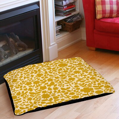Ambrose Bird Pet Bed Size: 40 L x 30 W, Color: Yellow
