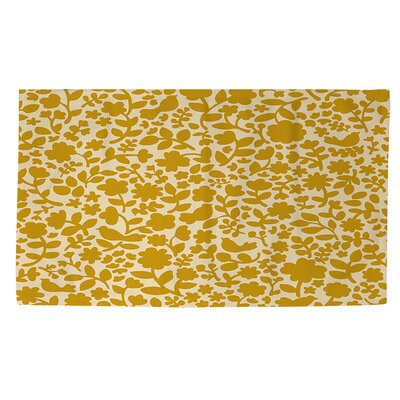 Ambrose Bird Yellow Area Rug Rug Size: 4 x 6