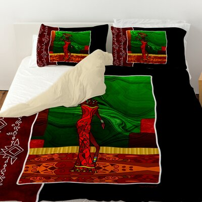 African Beauty 1 Duvet Cover Size: Twin