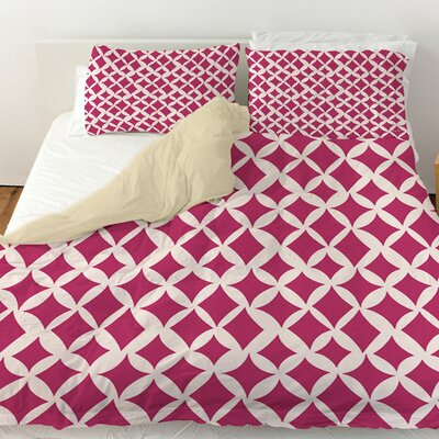 Banias Diamond Duvet Cover Size: Queen