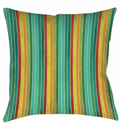 Aqua Bloom Stripes Printed Throw Pillow Size: 18 H x 18 W x 5 D