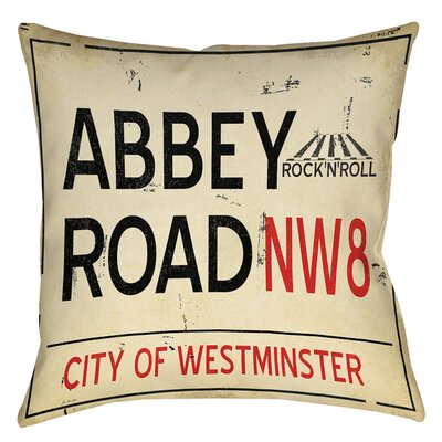 Abbey Road Printed Throw Pillow Size: 16 H x 16 W x 4 D