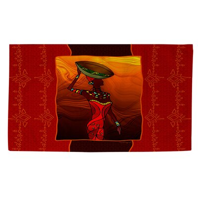 African Beauty 2 Area Rug Rug Size: 4 x 6