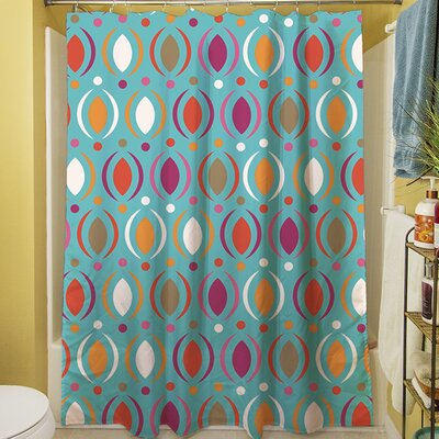 Banias Oval Shower Curtain Color: Teal