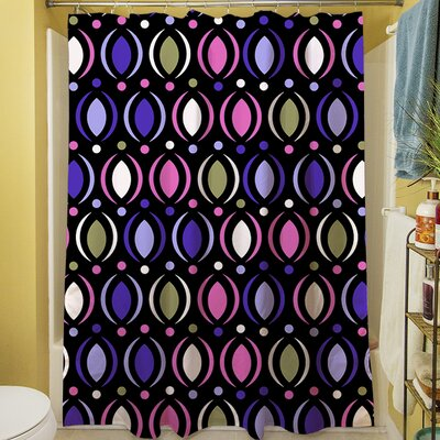 Banias Oval Shower Curtain Color: Purple