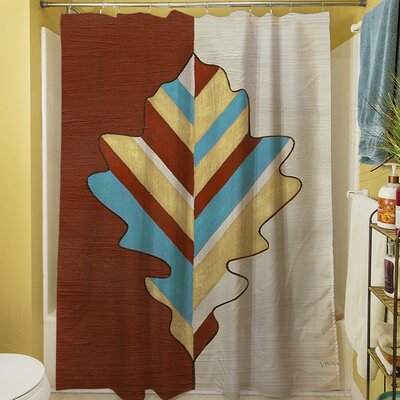 Apache Leaf IV Shower Curtain