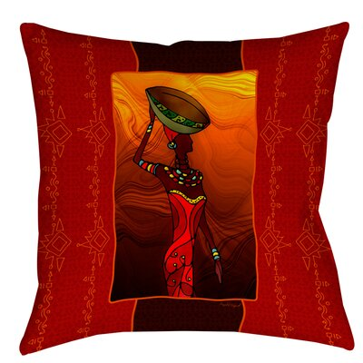 African Beauty 2 Printed Throw Pillow Size: 16 H x 16 W x 4 D