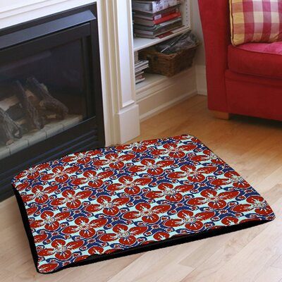 Anna Medallion 4 Pet Bed Size: 50 L x 40 W, Color: Crimson