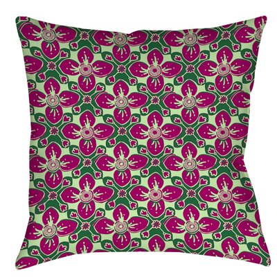 Anna Medallion 4 Indoor/Outdoor Throw Pillow Color: Berry, Size: 18 H x 18 W x 5 D
